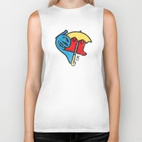 himym Biker Tanks featuring Hey Beautiful by Reg Lapid