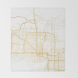 PHOENIX ARIZONA CITY STREET MAP ART Throw Blanket