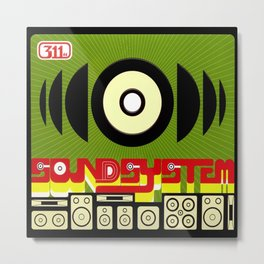 Soundsystem Metal Print