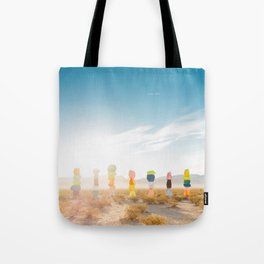 Seven Magic Mountains Sunrise Tote Bag