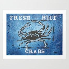 Fresh Blue Crabs Art Print