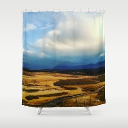 Blue Rockies Shower Curtain