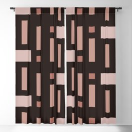 Pattern of Squares in Brown Blackout Curtain