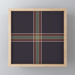 Retro Colored Thin Lined Cross Framed Mini Art Print