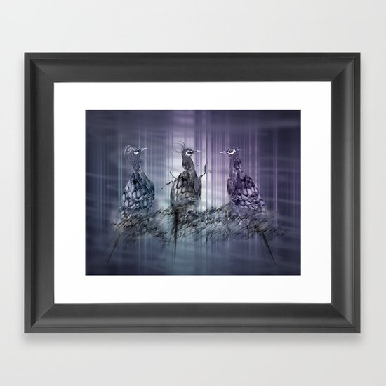 A perfect day between peacock! Framed Art Print