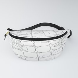 Texas from the Sky - Line Art Fanny Pack