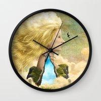 aurora Wall Clocks featuring Aurora by Diogo Verissimo