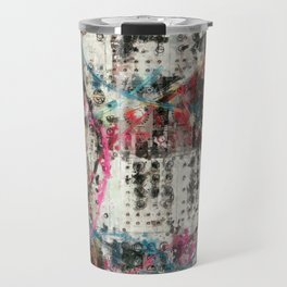 Analog Synthesizer, Abstract painting / illustration Travel Mug