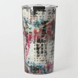 Analog Synthesizer, Abstract painting / illustration Travel Mug