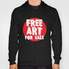 Free Art for Sale (red) Hoody
