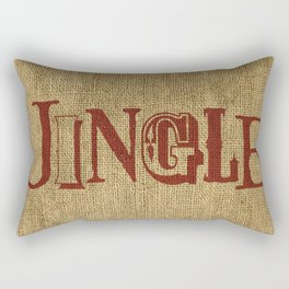 Jingle + Burlap Rectangular Pillow