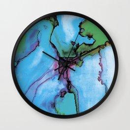 Blue cian abstract Wall Clock