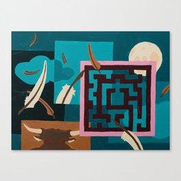 Labyrinth (Night) Canvas Print