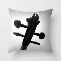 violin Throw Pillows featuring Violin by tracy-Me