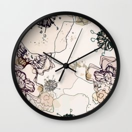 Pollination in Pastel Wall Clock