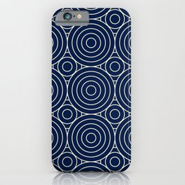 Mediterranean Circles Seamless Pattern iPhone Case