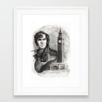 sherlock Framed Art Prints featuring Sherlock  by RileyStark