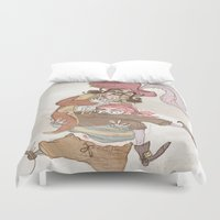 hook Duvet Covers featuring Captain Hook by Samantha Kay Davies