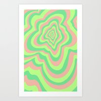 watermelon Art Prints featuring Watermelon by Popsicle Illusion