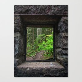 Stone House Window Canvas Print