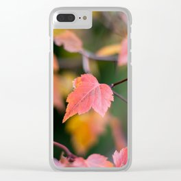 Autumn Red Clear iPhone Case