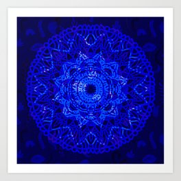 Deep Blue Mandala Dream Art Print