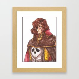 Captain Harlock Space Pirate Framed Art Print