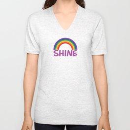 SHINE in purple Unisex V-Neck