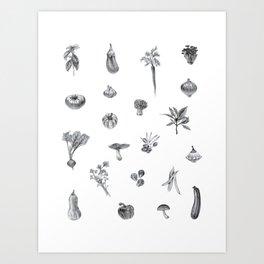 Favorite Veggies Art Print