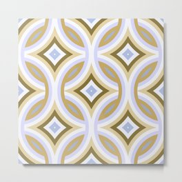 Funky Retro Abstract Mod Fantasy Pattern Metal Print