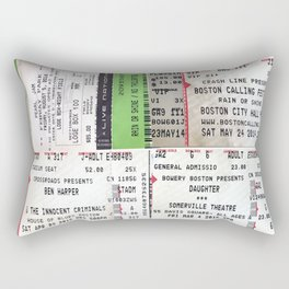 Concert Ticket Collage Rectangular Pillow