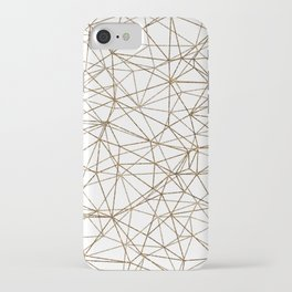 Geometric triangles glitter pattern. Modern stylish texture. Gold trendy glitter print background iPhone Case