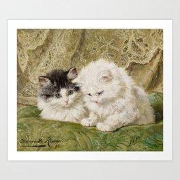 RONNER-KNIP, HENRIETTE 1821 Amsterdam - 1909   Two Kittens Art Print