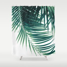 Palm Leaves Green Vibes #4 #tropical #decor #art #society6 Shower Curtain