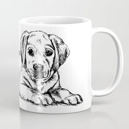 Golden retriever puppy print Coffee Mug