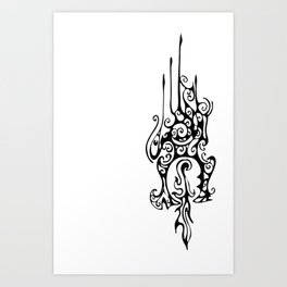 Dragon Head Art Print