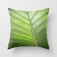 palm Throw Pillows featuring Palm by ALLY COXON