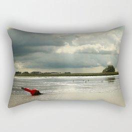 River Scene Rectangular Pillow