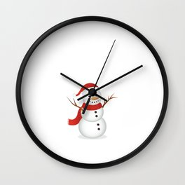 Snowmen Fall from Heaven Unassembled T-Shirt Wall Clock