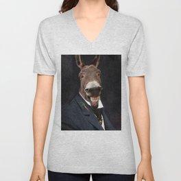 Donkey Eddie E. Smith Unisex V-Neck