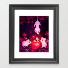One Strawberry Framed Art Print