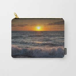 Lake Michigan Sunset with Crashing Shore Waves Carry-All Pouch