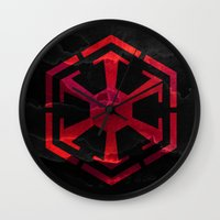 sith Wall Clocks featuring Star Wars Sith Empire by foreverwars