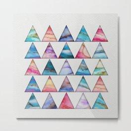 Marble Triangles 2 Metal Print