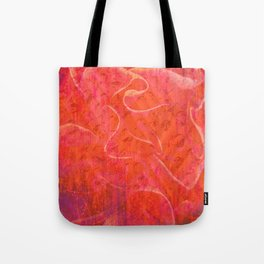 Flaming Rose, Floral Abstract Art Tote Bag