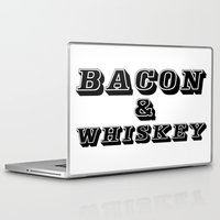 whiskey Laptop & iPad Skins featuring Bacon & Whiskey by Florian Rodarte