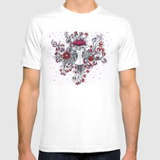 Out of the box MEDIUM White Mens Fitted Tee