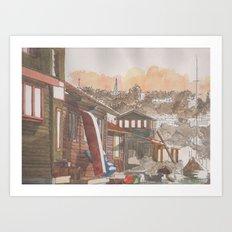In The Dock Art Print