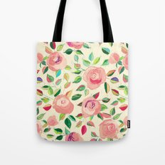Pastel Roses in Blush Pink and Cream  Tote Bag