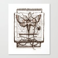 science Canvas Prints featuring Science by Ulla Thynell